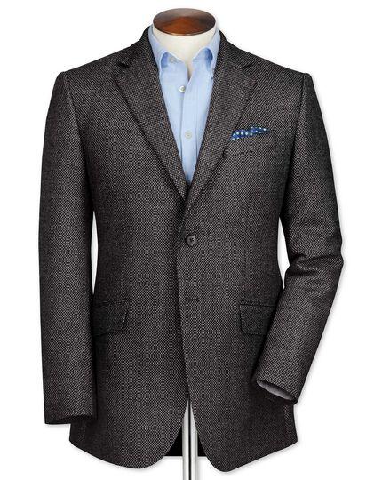 Slim fit grey birdseye lambswool jacket