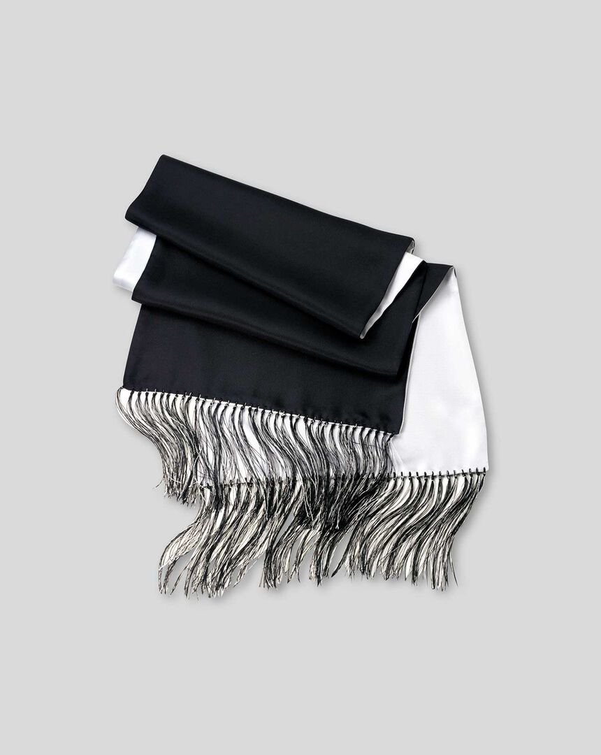 Reversible Silk Scarf - Black