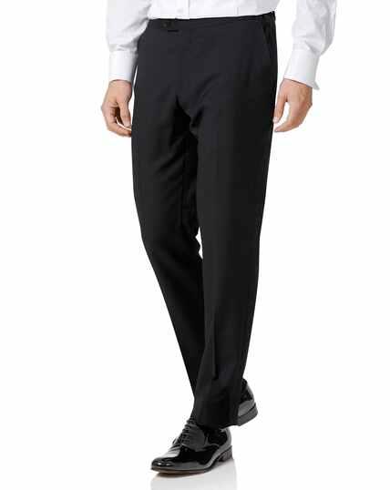 Black slim fit dinner trousers