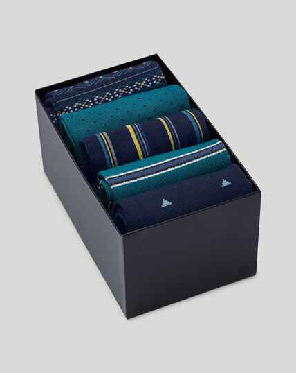 Sock Gift Box - Blue