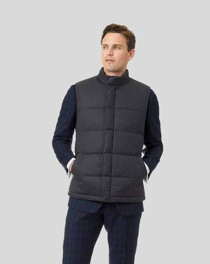 Quilted Gilet - Dark Grey