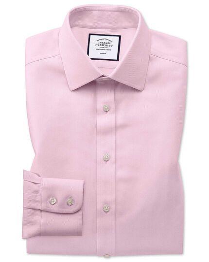 Slim fit non-iron pink arrow weave shirt