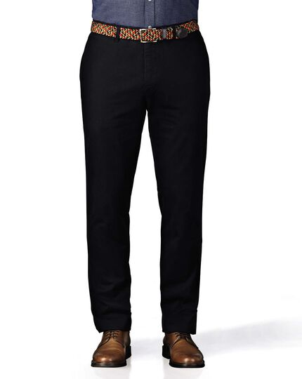 Navy extra slim fit flat front chinos