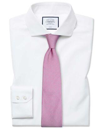 Chemise blanche en coton Tyrwhitt Cool extra slim fit à col cutaway sans repassage