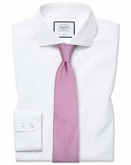 Extra slim fit non-iron spread collar white Tyrwhitt Cool shirt