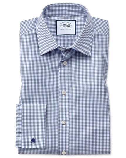 Small Gingham Shirt - Steel