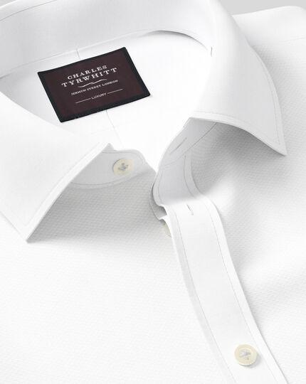 Super slim fit marcella bib front white tuxedo shirt