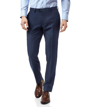 Pantalon de costume business bleu en twill slim fit
