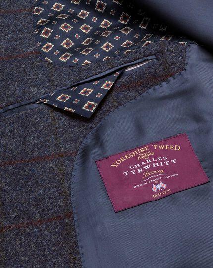 Classic fit navy check British tweed jacket
