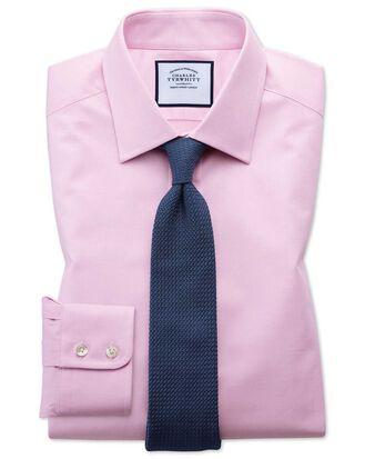 Extra slim fit Egyptian cotton trellis weave pink shirt