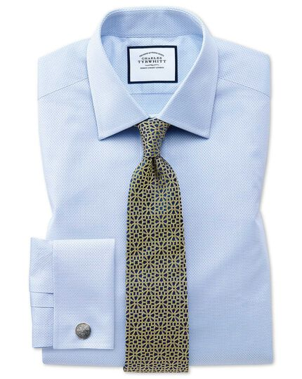 Eyptian Cotton Cube Weave Shirt - Sky Blue