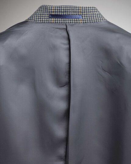 Slim Fit Sakko aus britischem Tweed mit Karos in Blau und Beige