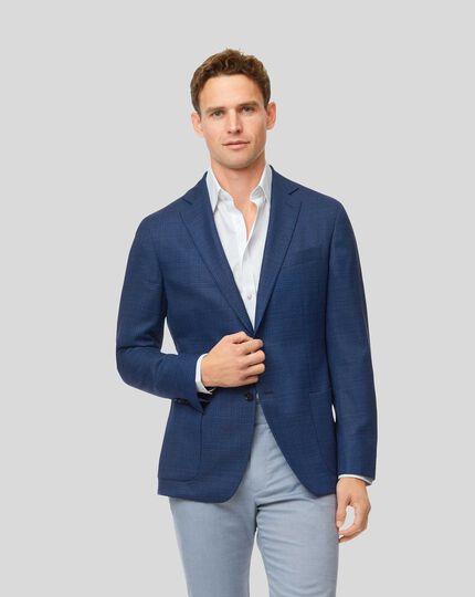 Veste de luxe en laine italienne - Bleu