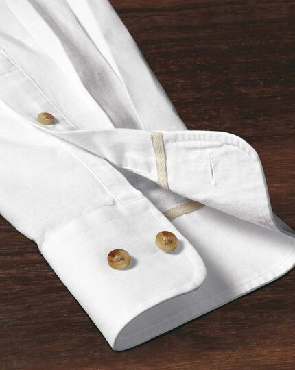 Slim Fit Hemd in Weiß