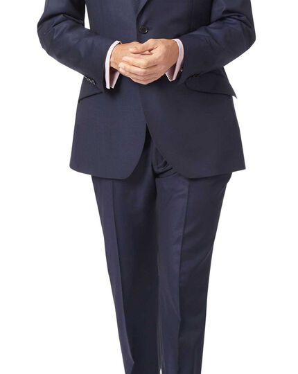 Italienisches Slim Fit Luxusanzug-Sakko in Marineblau