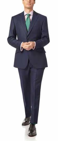 Navy slim fit luxury Italian suit