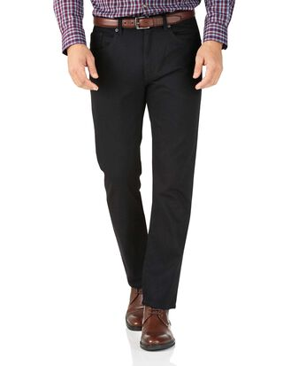 Slim Fit 5-Pocket Jeans in Schwarz