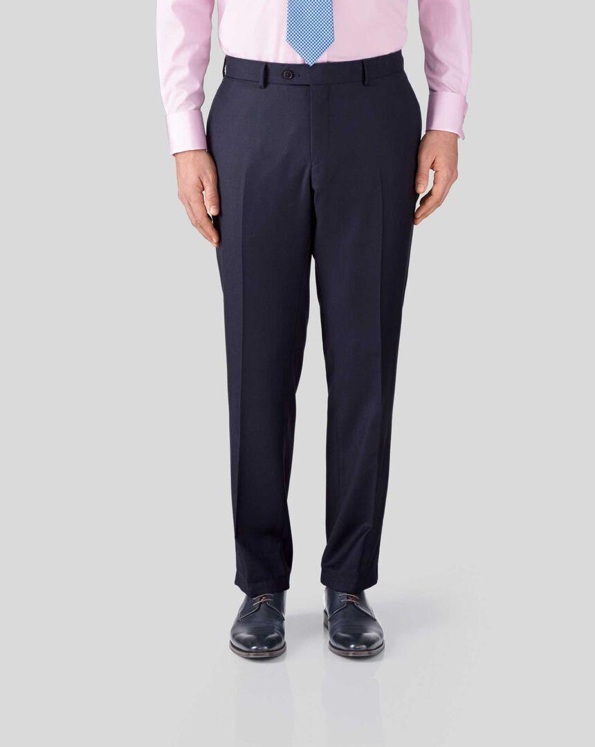 Birdseye Half Canvas Suit Pants - Ink Blue