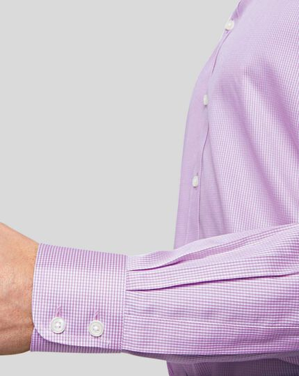 Non-Iron Puppytooth Shirt - Lilac