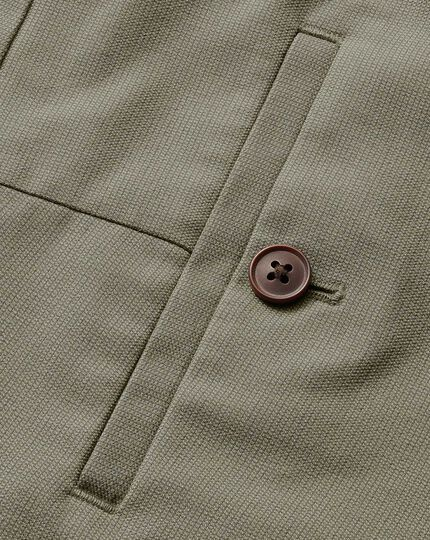 Olive extra slim fit stretch non-iron Pants