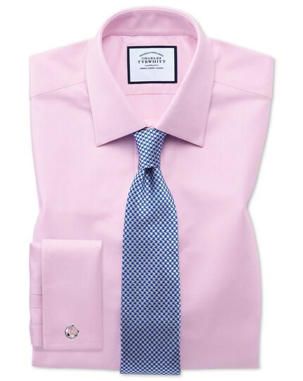 Slim fit Egyptian cotton royal Oxford pink shirt