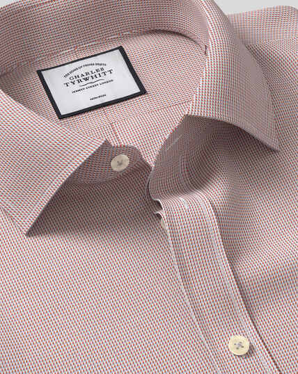 Classic Collar Non-Iron Dobby Shirt - Berry