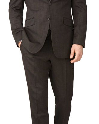 Brown End-on-End slim fit business Suit