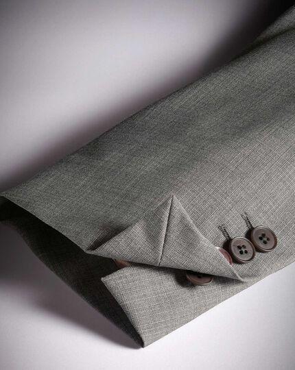 Classic Fit Anzugsakko aus italienischem Stoff mit Kreuzschraffur in Silber