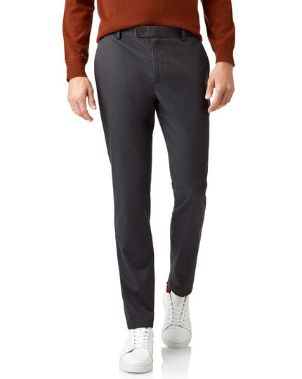 Charcoal non-iron ultimate chinos