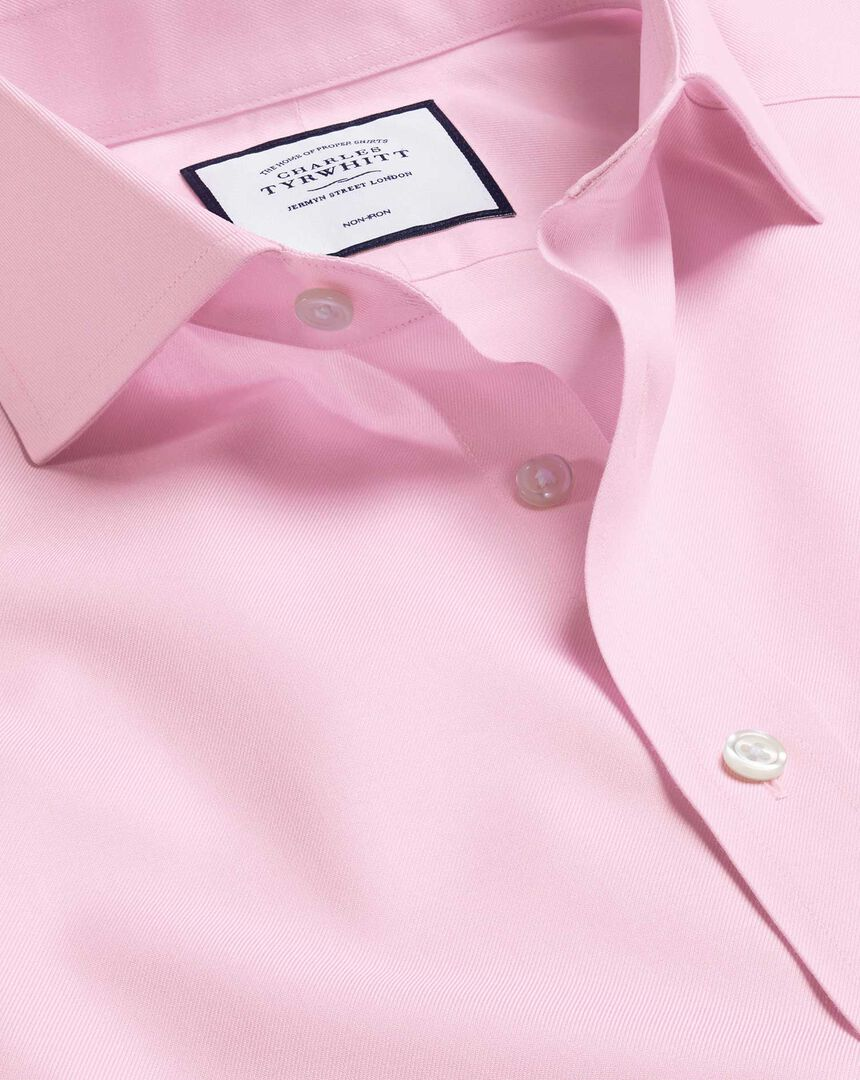 Cutaway Collar Non-Iron Twill Shirt - Pink