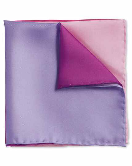 Pink quarter pocket square