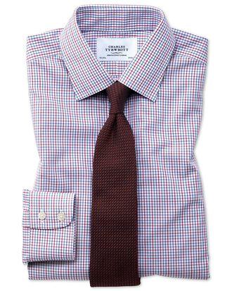Extra slim fit non-iron grid check multi shirt