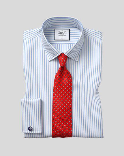 Cravate classique en soie imprimé coccinelle - Rouge