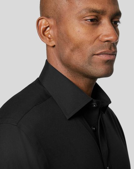 Non-Iron Poplin Shirt - Black