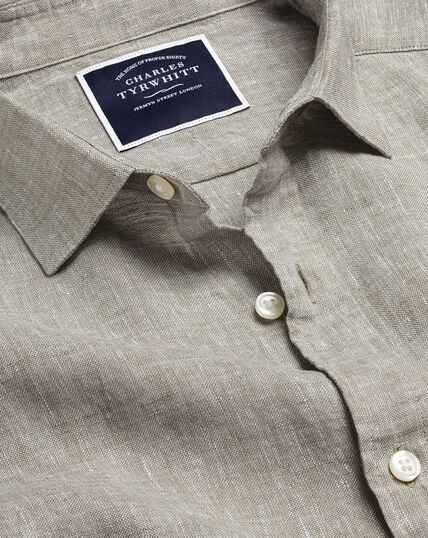 Hemd aus Leinen - Grau
