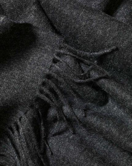 Lambswool Melange Scarf - Charcoal