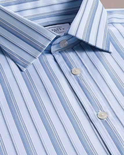 Multi Stripe Egyptian Cotton Shirt - Sky Blue