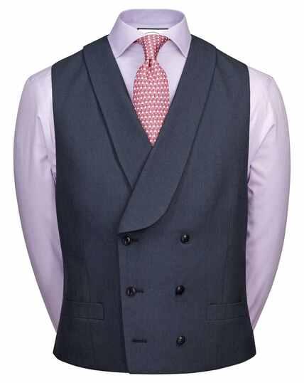 Blue Panama adjustable fit British suit vests