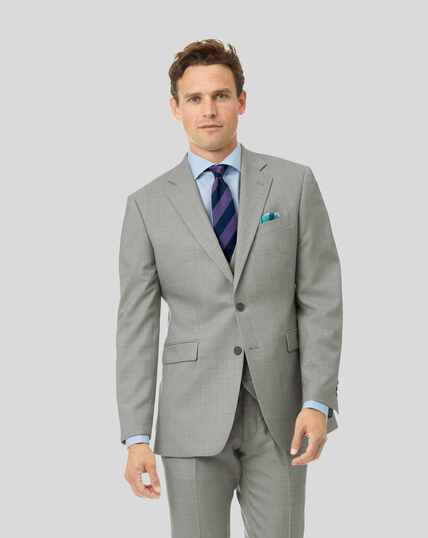 Sharkskin Travel Suit Jacket - Silver