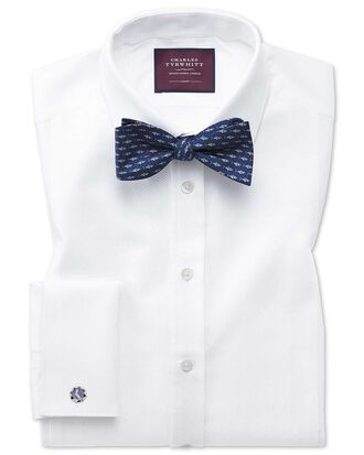 Extra slim fit luxury marcella bib front white dinner shirt