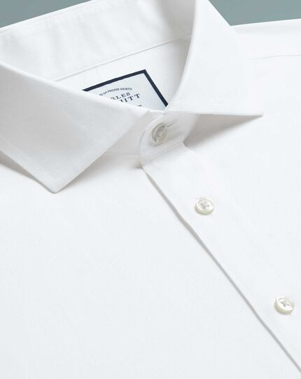 Classic fit cutaway non-iron twill white shirt