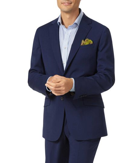 Veste de costume bleu roi slim fit haute technologie