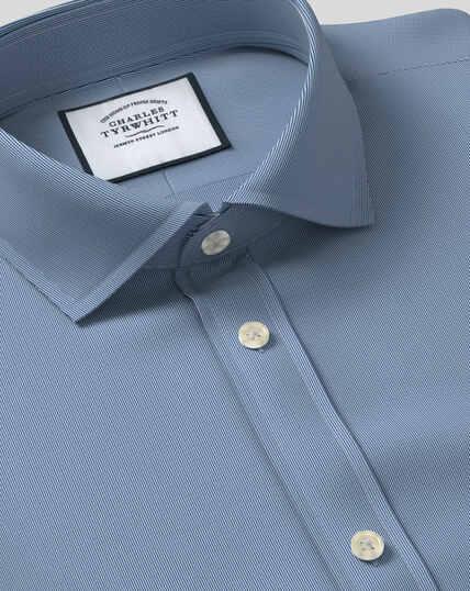 Spread Collar Stretch With TENCEL™ Shirt - Royal Blue