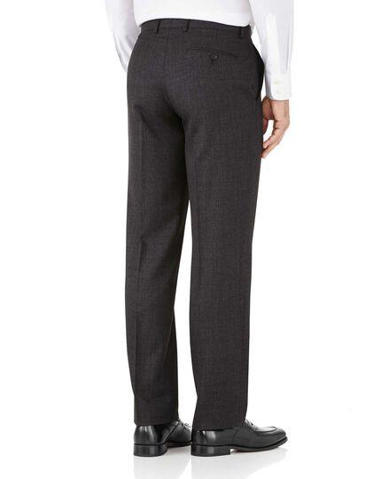Pantalon de costume business charcoal avec motif milleraies et coupe droite