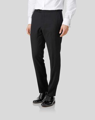 Black extra slim fit dinner suit pants