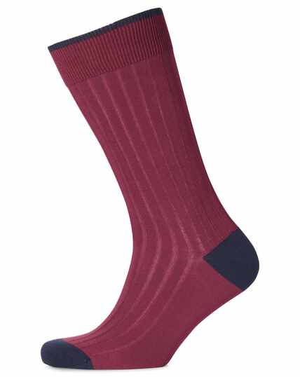 Berry cotton rib socks