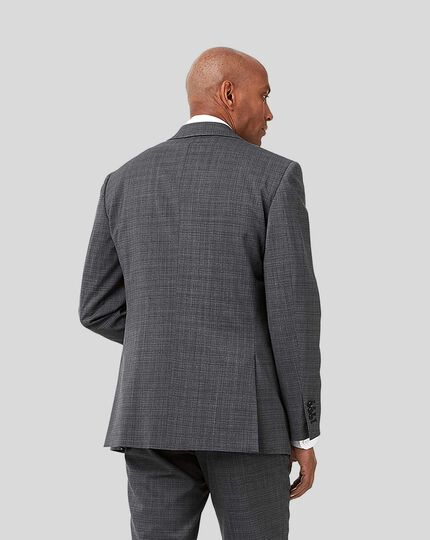 Crosshatch Suit Jacket - Grey