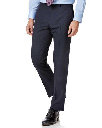 Blue stripe slim fit twist business suit pants