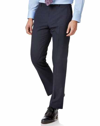 Twist Businessanzug-Hose Slim Fit mit Streifen in Blau