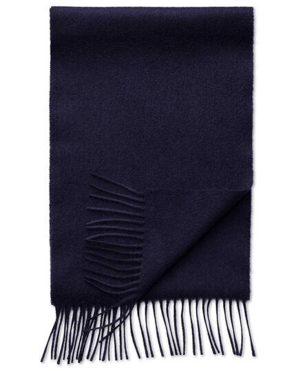 Schal aus Kaschmir/Merinowolle in marineblau